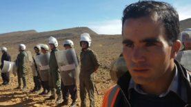 La population d'Imiter en face de la dictature marocaine قوى القمع تمنع مسيرة سلمية لمناضلي إميضر من الوصول إلى شركة مناجم SMI