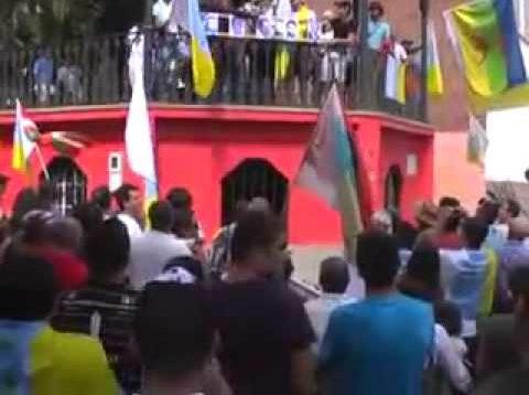 Les Amazighs des Ils Canaries manifestent contre l'occupation Espagnole Juillet 2011